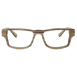 Glasses in wood, optical frame style man bun